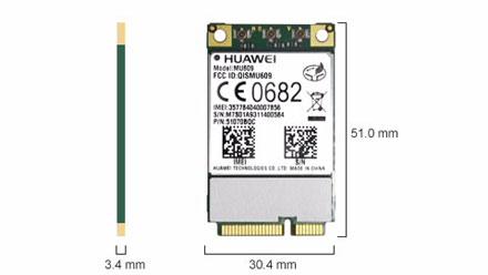 HSPA / UMTS / EDGE Mini-PCIe Modem (Huawei MU609)