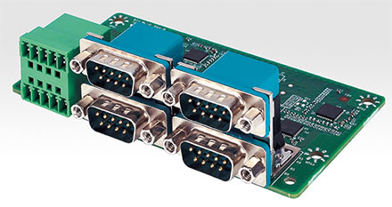 Mitac MX1-10FEP Erweiterungsmodul MS-48CDN-D10 (4x Isolated RS232/422/485, 8bit Isolated DIDO 4xDI/4xDO)