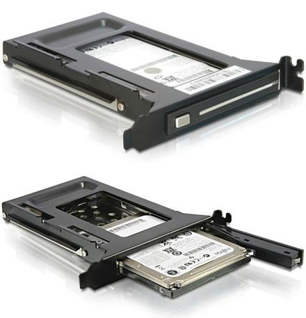 """PCI 2.5"""" Hot-Swap SATA-II Schacht"""