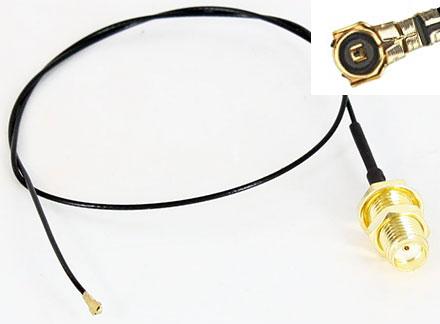 Pigtail Kabel MHF4 SMA weiblich (30cm, für M.2 WLAN,3G,GPS)
